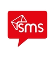 bubble chat sms text mobile icon graphic vector image
