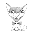 cat love sketch vector image