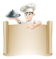 chef menu banner vector image