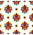 chinese traditional folk seamless pattern vector image vector image