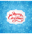 Christmas banner with red greeting inscription vector image vector image