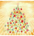 Christmas tree on grunge background vector image vector image