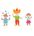 circus funny animals set icons cheerful vector image vector image