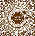 coffee cap brown vector image vector image