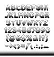 Comic Font Black Offset Print vector image vector image