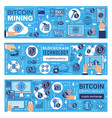 cryptocurrency bitcoin wallet blockchain mining vector image vector image