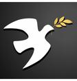 Dove silhouette Logo template vector image vector image