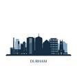 durham skyline monochrome silhouette vector image vector image