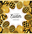 easter egg card easter card with eggs laid out in vector image vector image