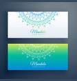 elegant artistic mandala banners set vector image