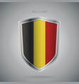 europe flags series belgium modern icon vector image