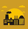 factory logo design vector image