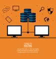 file hosting technology vector image vector image