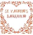 Floral Pattern Valentine Hearts vector image