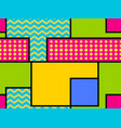 geometric seamless pattern in the memphis style vector image vector image