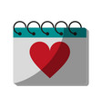 gift heart flat shadow vector image vector image
