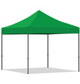Green folding tent vector image vector image