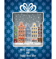 Greeting Card with Winter Town vector image