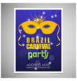 happy brazilian carnival day blue carnival vector image vector image