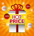 Hot price digital design vector image