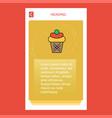 ice cream mobile vertical banner design design vector image