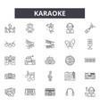 karaoke line icons signs set outline vector image