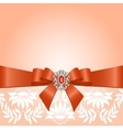 Lace with bow vector image
