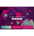 landing page template with abstract shapes vector image