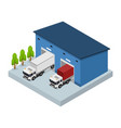 logistic service business concept isometric view vector image vector image