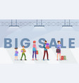 mall big sale web banner template vector image vector image