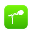 microphone icon digital green vector image vector image