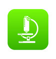 microscope modern icon simple black style vector image