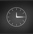 minimalistic clock or time icon isolated on vector image vector image