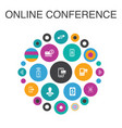 online conference infographic circle concept vector image vector image