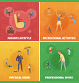 physical activity compositions set vector image vector image