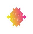 puzzle symbol gradient vector image vector image