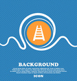 Railway track icon sign Blue and white abstract vector image