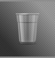 realistic detailed 3d plastic cup template mockup vector image vector image