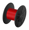 red cable coil mockup realistic style vector image vector image