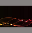 red flame curve layer abstract background vector image vector image