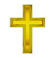 Religious gold cross vector image