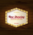 retro light sign on wooden background vector image vector image