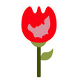 rose icon with silhouette of mother and son vector image