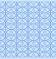 seamless geometric pattern blue circle abstract vector image