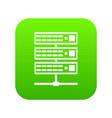 servers icon digital green vector image vector image