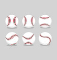 set baseball ball sport to professional team vector image vector image