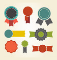 set colorful badges icon vector image