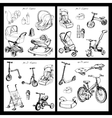 set of hand drawn baby transport vector image vector image