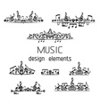 set of music page decorations vector image vector image