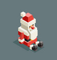 sitting santa claus isometric grandfather vector image vector image